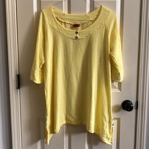 Oh My Gauze! Yellow Top/Tunic Size 1 (S/Med)